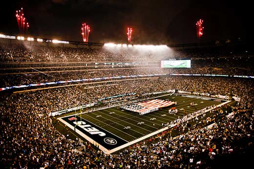 NY Jets first home game in new stadium